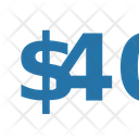 Fourty Dollar Numbers Dollar Icon