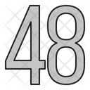 Numbers 48 Days Icon