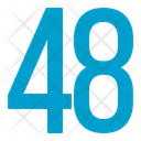 Fourty Eight Numbers Icon