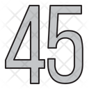 Numbers 45 Days Icon