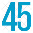 Fourty Five Numbers Icon