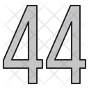 Numbers 44 Days Icon