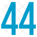 Fourty Four Numbers Icon