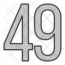 Numbers 49 Days Icon