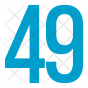 Fourty Nine Numbers Icon