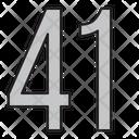 Fourty One Icon