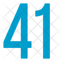 Fourty One Numbers Icon