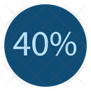 40 Numbers Offer Icon