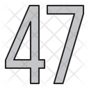 Numbers 47 Days Icon