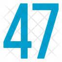 Fourty Seven Numbers Icon