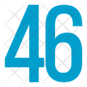 Fourty Six Numbers Icon