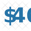 Fourty Six Dollar Numbers Dollar Icon