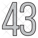 Numbers Days 43 Icon