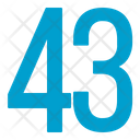 Fourty Three Numbers Icon