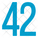 Fourty Two Numbers Icon