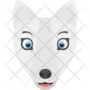 White Fox Face Icon