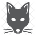 Fox Mascot Face Icon