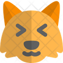 Fox Grinning Squinting Animal Wildlife Icon