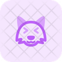 Fox Grinning Squinting Icon
