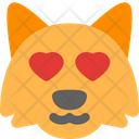 Fox Heart Eyes Icon