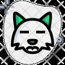 Fox Sad Closed Eyes Icon