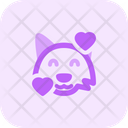 Fox Smiling With Hearts Icon