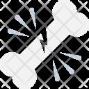 Fracture Cracked Bone Icon