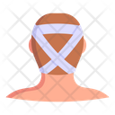 Fractured Head Head Injury Injured Person Icon