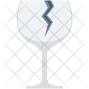 Fragile Glass Stamp Icon