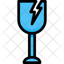 Fragile Delivery Glass Icon