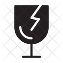 Fragile Broken Glass Icon
