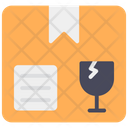 Fragile Cardboard Delivery Packaging Icon