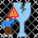 Fragile Broken Parcel Broken Icon