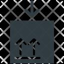 Fragile Sign Postmark Icon