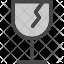 Fragile Glass Handle Icon