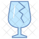 Fragile Crack Glass Icon