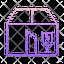 Fragile Box Broken Box Fragile Icon