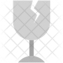 Logistics Delivery Glass Icon