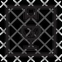 Fragile Parcel Box Icon