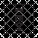 Fragile Delivery Box Icon