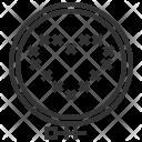 Frame Circle Cross Icon