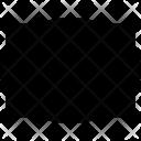 Rectangular Blank Frame Icon