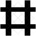 Frame Hash Sign Icon