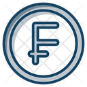 Franc Coins Currency Coin Icon