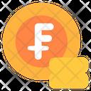Franc Coin Gold Coin Icon