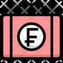 Franc Briefcase Franc Money Icon