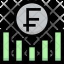 Franc Graph Earning Graph Money Icon