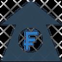 Franc Increase Franc Up Arrow Increase Arrow Icon