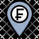 Franc Location Money Location Franc Icon