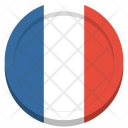 France Flag Circle Icon